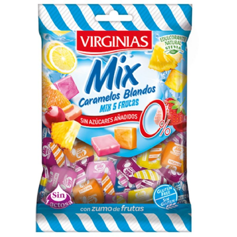 Mixed Fruit Mix - No Added Sugar Free Fruit Chews Sweets Virginias 85g